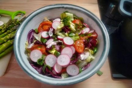 Quinoarisotto mit Pilzen--grüner Spargel-Salat-29.5.2014 (2)
