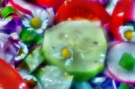 Quinoarisotto mit Pilzen--grüner Spargel-Salat-29.5.2014 (2a)