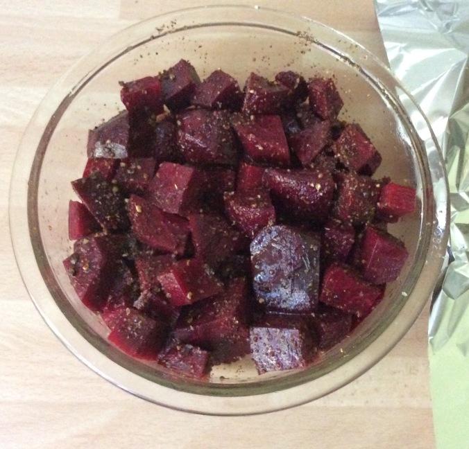 Rote Beete Gemüse,Rührei,Rettichsalat - 26.8.15 (2)