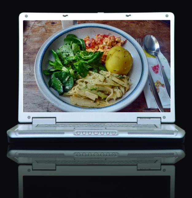 Bilderrahmen - 2014.09.30 13.11.05 - (Kohlrabigemüse-Rührei-Salat-Kartoffeln-30.9.14   (16))