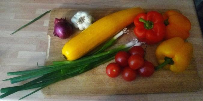 Gemüse-Nudelpfanne - 16.9.14   (1)