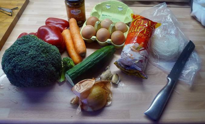 Wokgemüse mit Omlette - 23.11.14   (1)