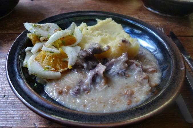 Meerrettichsauce,Beinscheibe,Kartoffelbrei,Fenchelsalat - 3.2.15   (15)