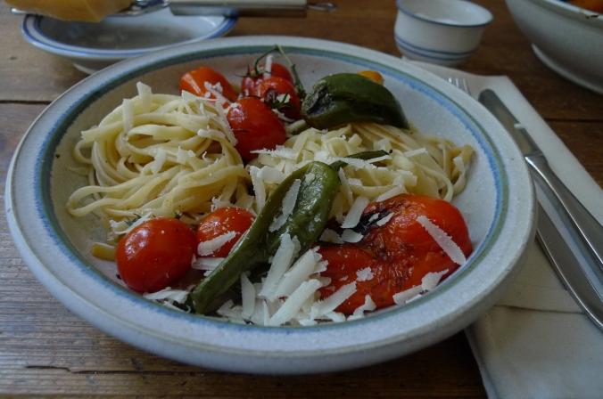 Pimientos(Bratpaprika)Tomaten,Linguini -7.1.15  (11)