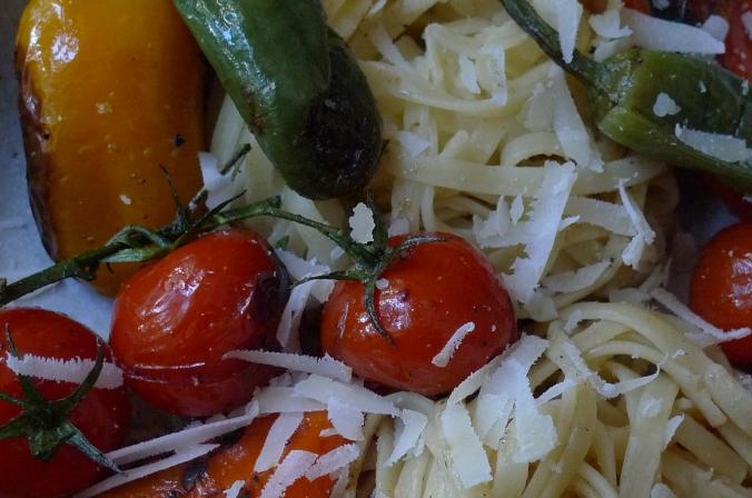 Pimientos(Bratpaprika)Tomaten,Linguini -7.1.15  (12)