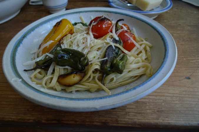 Pimientos(Bratpaprika)Tomaten,Linguini -7.1.15  (9)