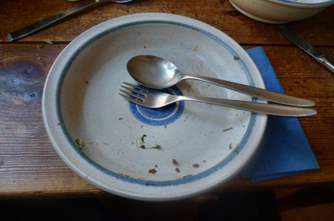 Roh gebratene Kartoffeln,Kräutersaitlinge,Champignon,Römersalat - 26.2.15   (16)