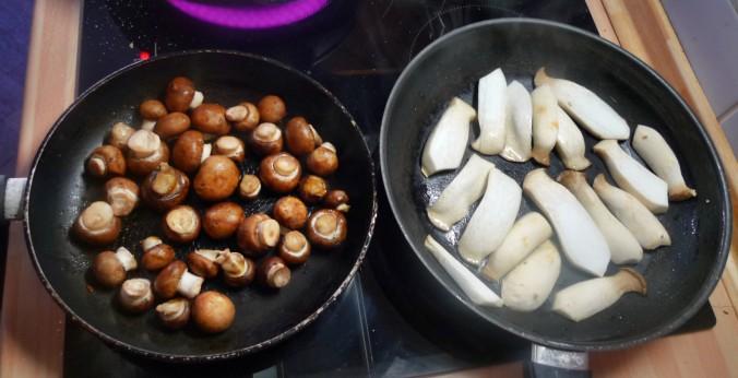 Roh gebratene Kartoffeln,Kräutersaitlinge,Champignon,Römersalat - 26.2.15   (5)