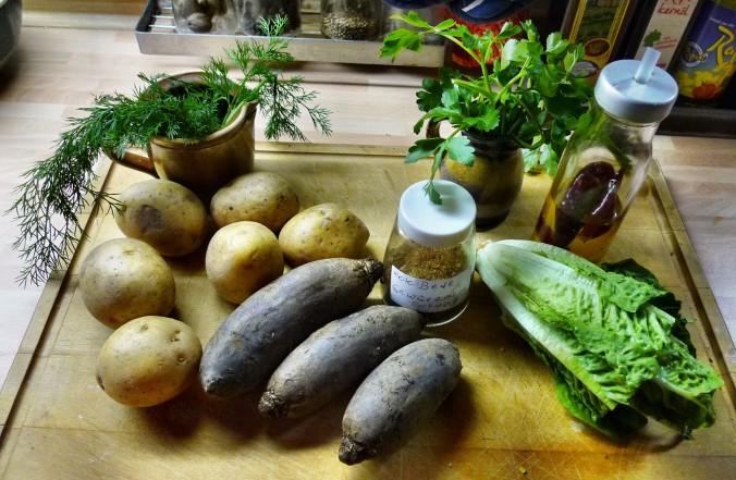 Rote Beete,Kartoffeln,Frikadellen,Salat -9.2.15   (1b)