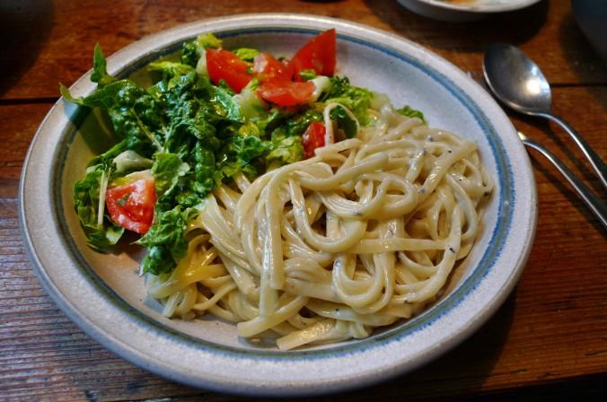 Nudeln mit Gorgonzola,Pak Choy,Salat, - 1.3.2015   (15)