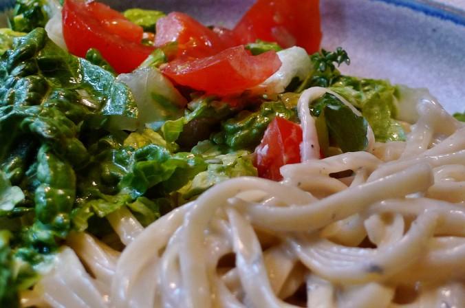 Nudeln mit Gorgonzola,Pak Choy,Salat, - 1.3.2015   (16)