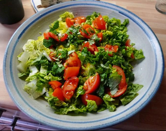 Nudeln mit Gorgonzola,Pak Choy,Salat, - 1.3.2015   (5)