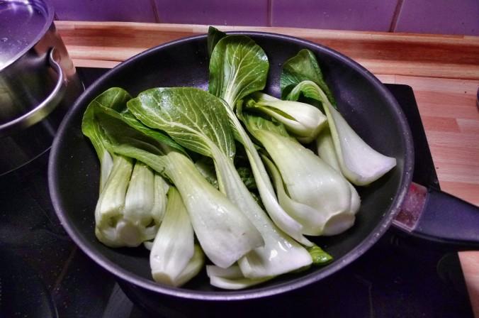 Nudeln mit Gorgonzola,Pak Choy,Salat, - 1.3.2015   (7)