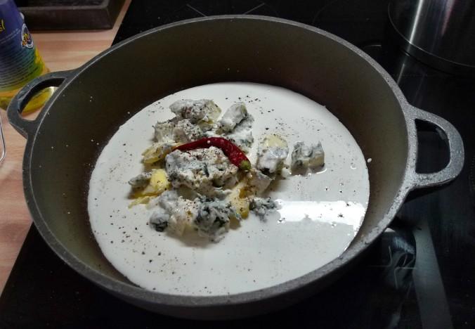 Nudeln mit Gorgonzola,Pak Choy,Salat, - 1.3.2015   (8)