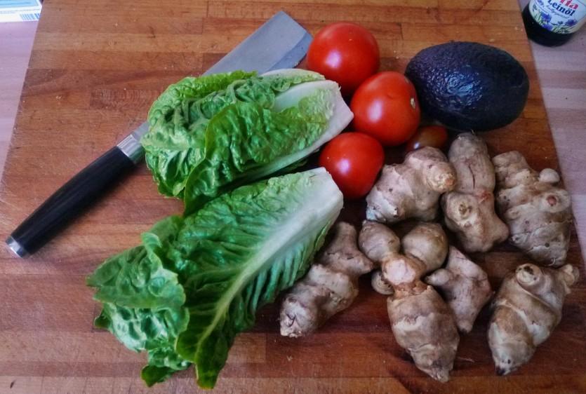 Topinambur,Salat,Joghurtdip - 16.3.15   (1)
