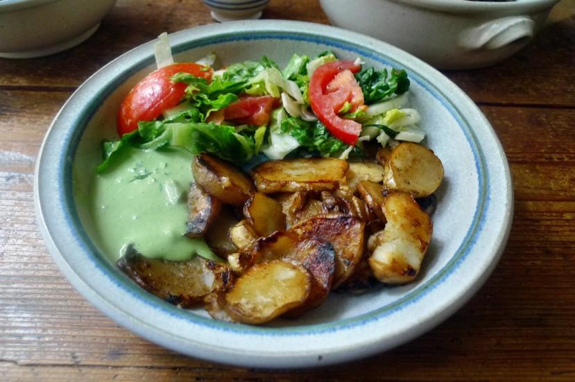 Topinambur,Salat,Joghurtdip - 16.3.15   (14)