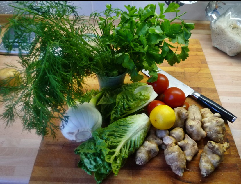 Topinambur,Salat,Joghurtdip - 16.3.15   (3)