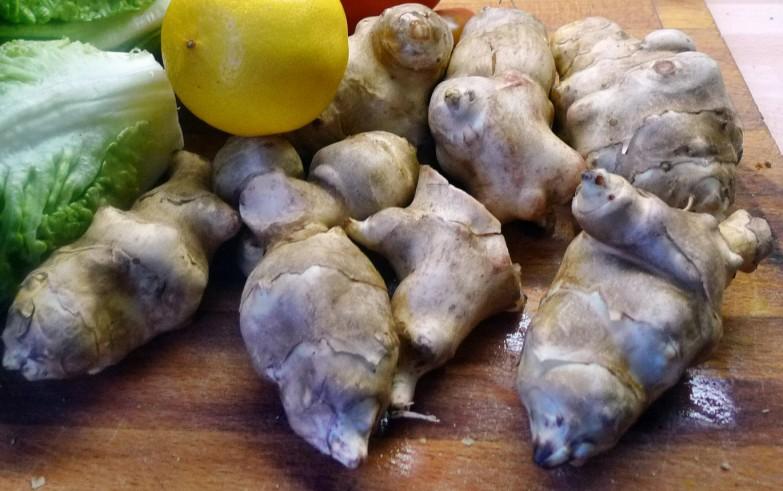 Topinambur,Salat,Joghurtdip - 16.3.15   (3a)