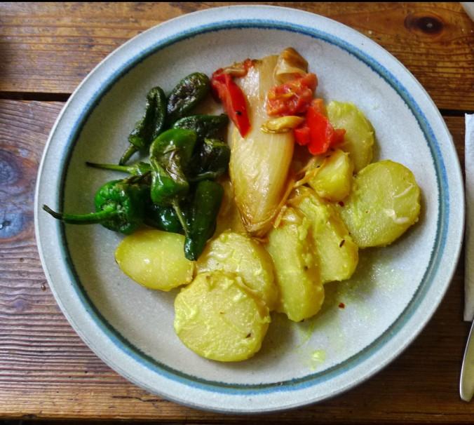 Chicoree,Salat mit Vorelmiere,Kartoffelgratin -9.4.15   (14)