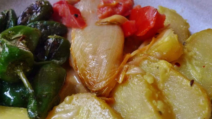 Chicoree,Salat mit Vorelmiere,Kartoffelgratin -9.4.15   (15)