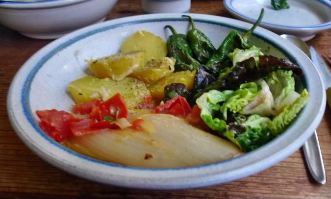 Chicoree,Salat mit Vorelmiere,Kartoffelgratin -9.4.15   (17)