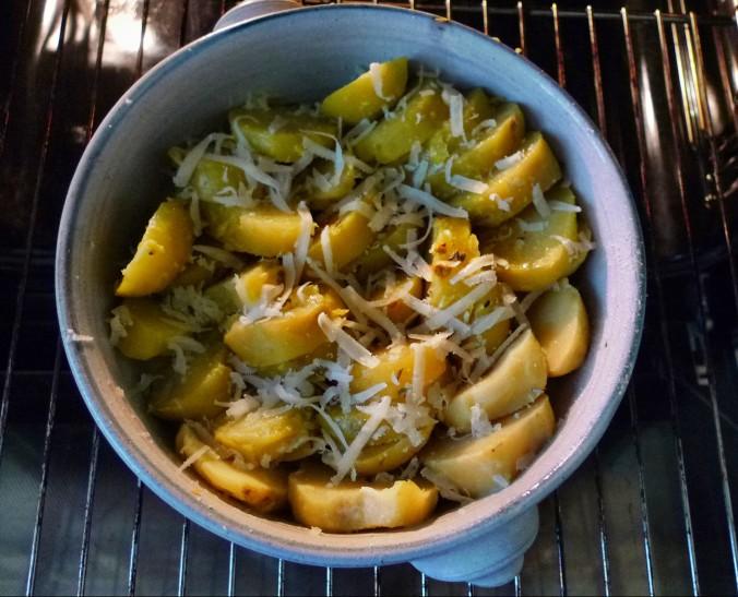 Chicoree,Salat mit Vorelmiere,Kartoffelgratin -9.4.15   (5)