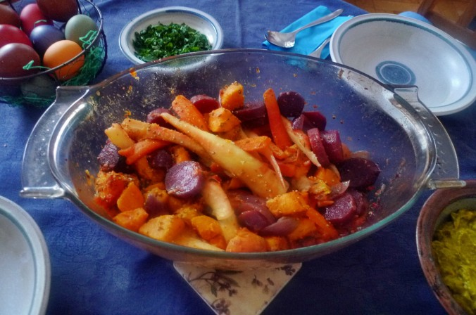 Ofengebackenes Würzelgemüse,Hummus,Guacamole -5.4.15   (12)