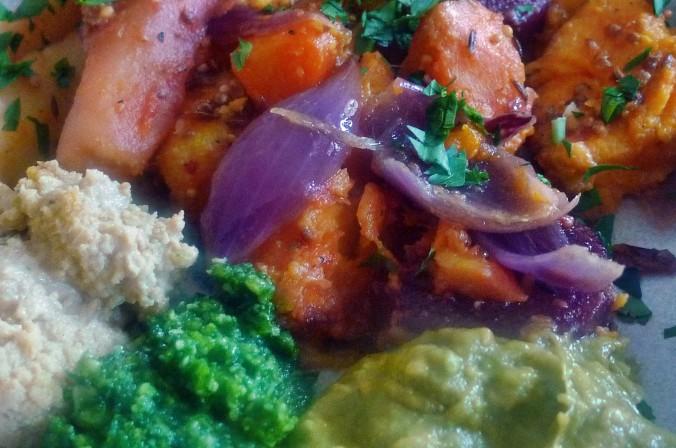 Ofengebackenes Würzelgemüse,Hummus,Guacamole -5.4.15   (17)