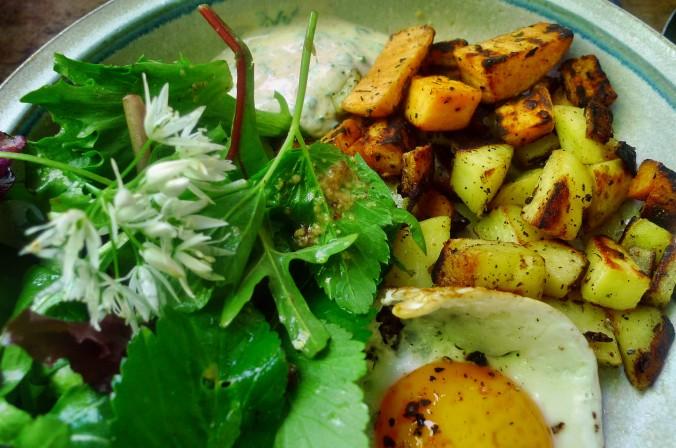 Bratkartoffel,Salat,Spiegelei,Dip,Zucchini - 13.5.15   (19)