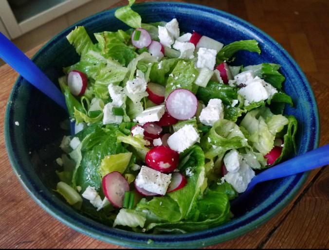 Grüne Nudeln,Bärlauchpesto,Salat -2.5.15   (1)