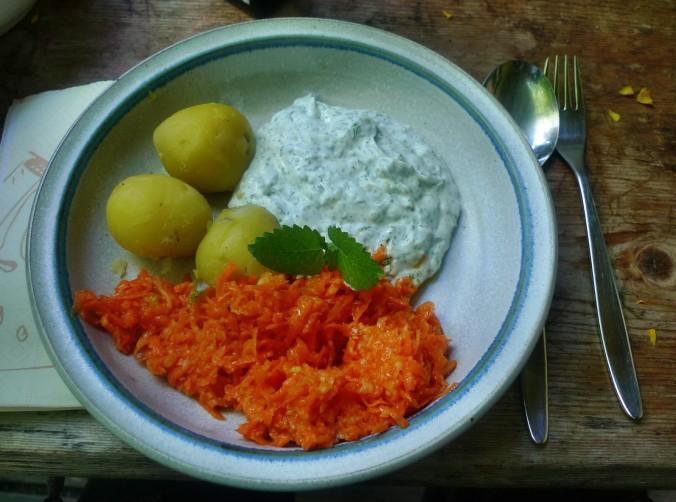 Quark,Kartoffeln,Möhrensalat,Leinöl, -15.5.15   (7)