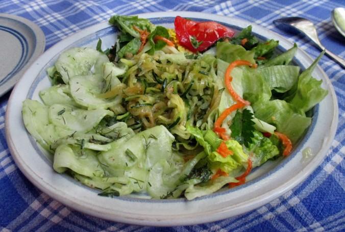 Zucchinispagetthi,Salate-30.6.15   (13)