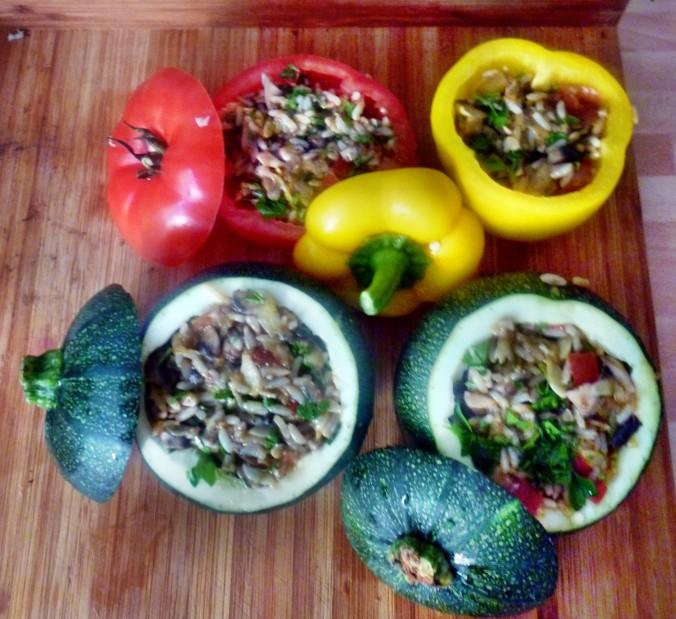 Gefüllte Zucchini - 19.7.15   (5)