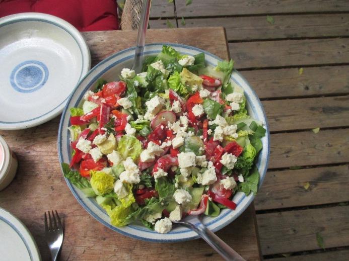 Gemischter Salat-Mais-Forelle -6.7.15   (4)