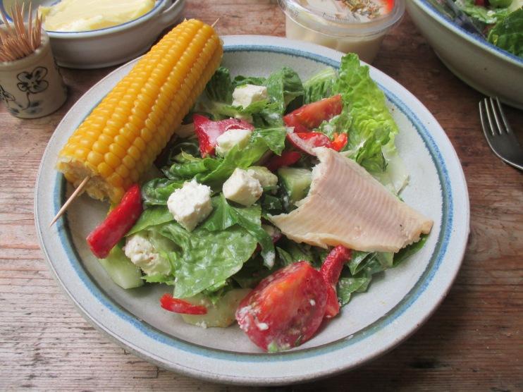 Gemischter Salat-Mais-Forelle -6.7.15   (7)