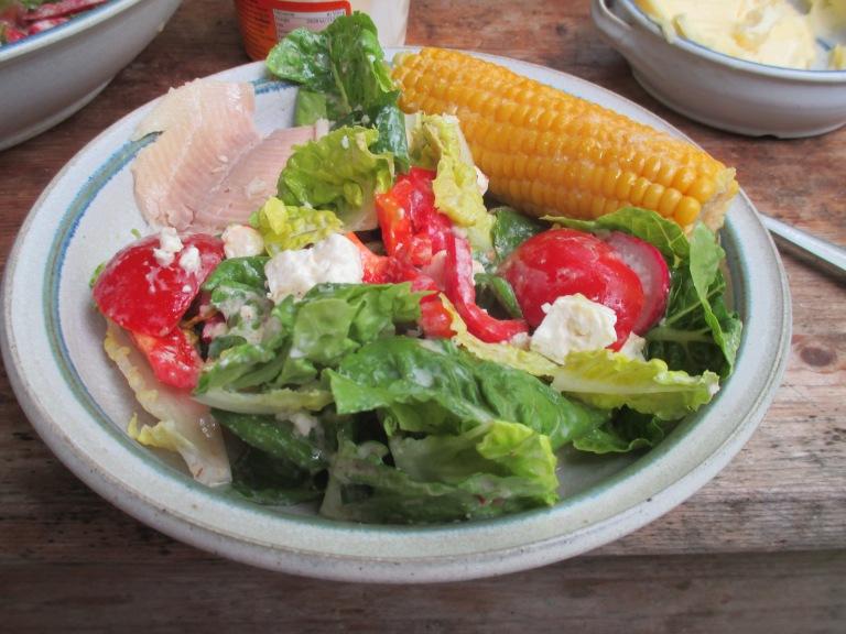Gemischter Salat-Mais-Forelle -6.7.15   (9)