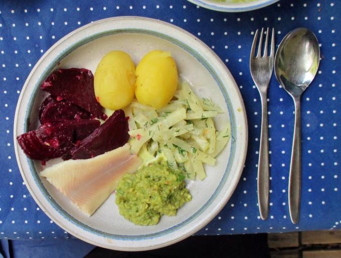 Kohlrabigemüse,Rote Betesalat,Guacamole,Karoffeln-15.7.15 (1)
