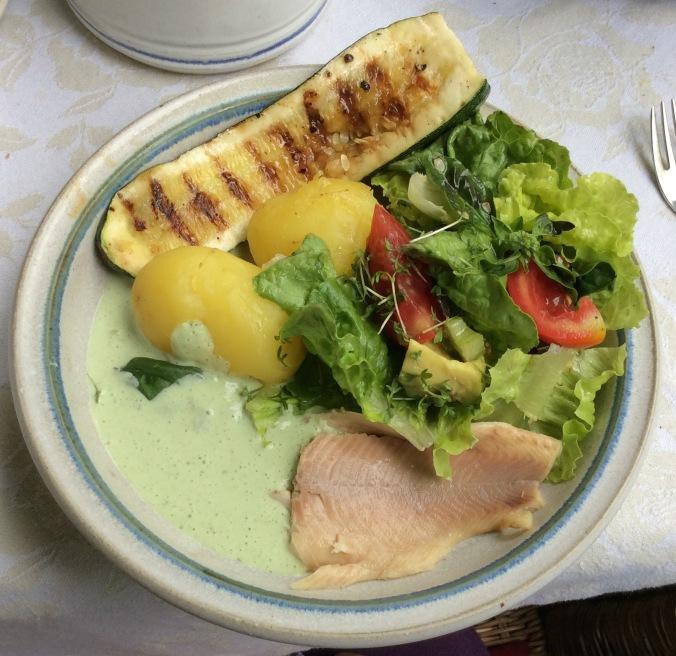 Forelle,Salat,Zucchini -25.8.15   (1)