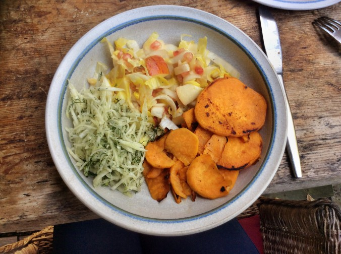 Süßkartoffeln,Lachsforelle,Salatr,- 21.915 (5a)