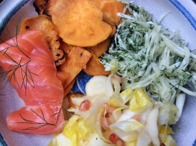 Süßkartoffeln,Lachsforelle,Salatr,- 21.915 (7)