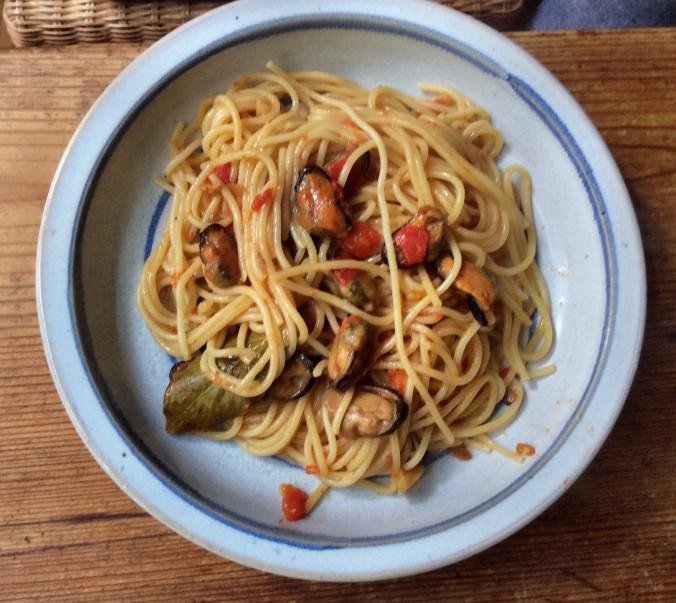 Spaghetti mit Muscheln -20.9.15 (1)