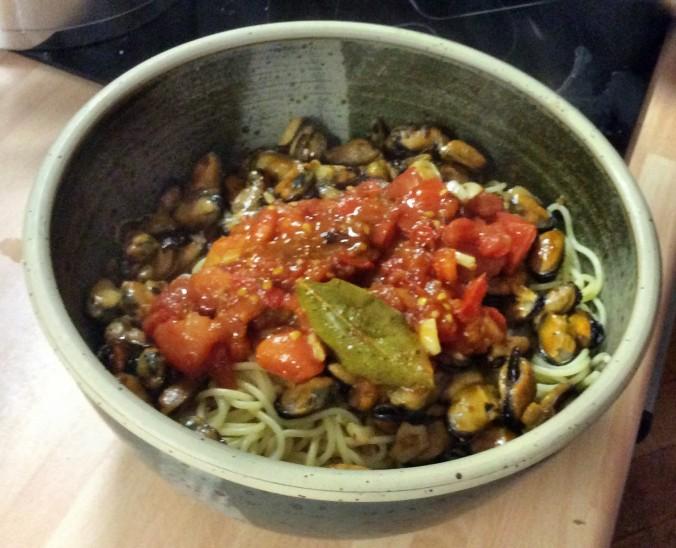 Spaghetti mit Muscheln -20.9.15 (5)