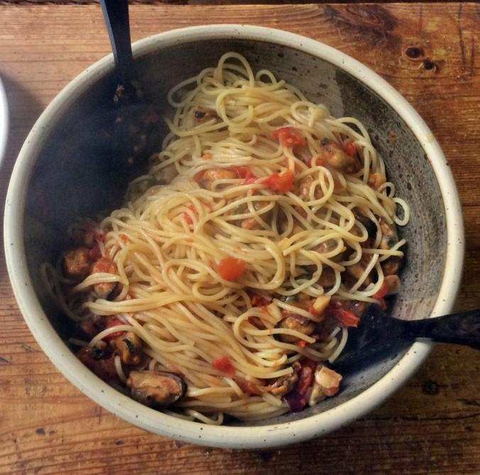 Spaghetti mit Muscheln -20.9.15 (6)