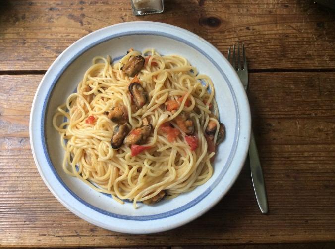 Spaghetti mit Muscheln -20.9.15 (7)