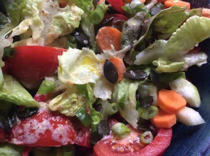 Marinierter Hering,gemischter Salat,Kartoffeln - 7.10.15   (1e)