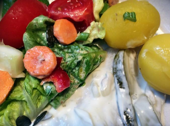 Marinierter Hering,gemischter Salat,Kartoffeln - 7.10.15   (8)