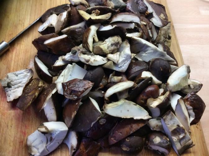 Maronen,Sinat mit Rührei,Kartoffeln - 25.10.15 (1a)