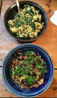 Maronen,Sinat mit Rührei,Kartoffeln - 25.10.15 (5)
