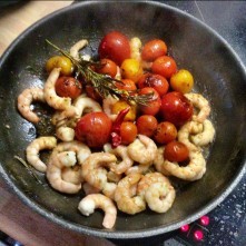 Selbstgemachte Nudeln,Costa Prawns,Salat, - 27.10.15 (1aa) (10)