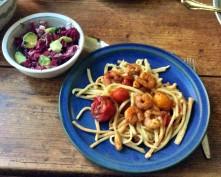 Selbstgemachte Nudeln,Costa Prawns,Salat, - 27.10.15 (1aa) (19)